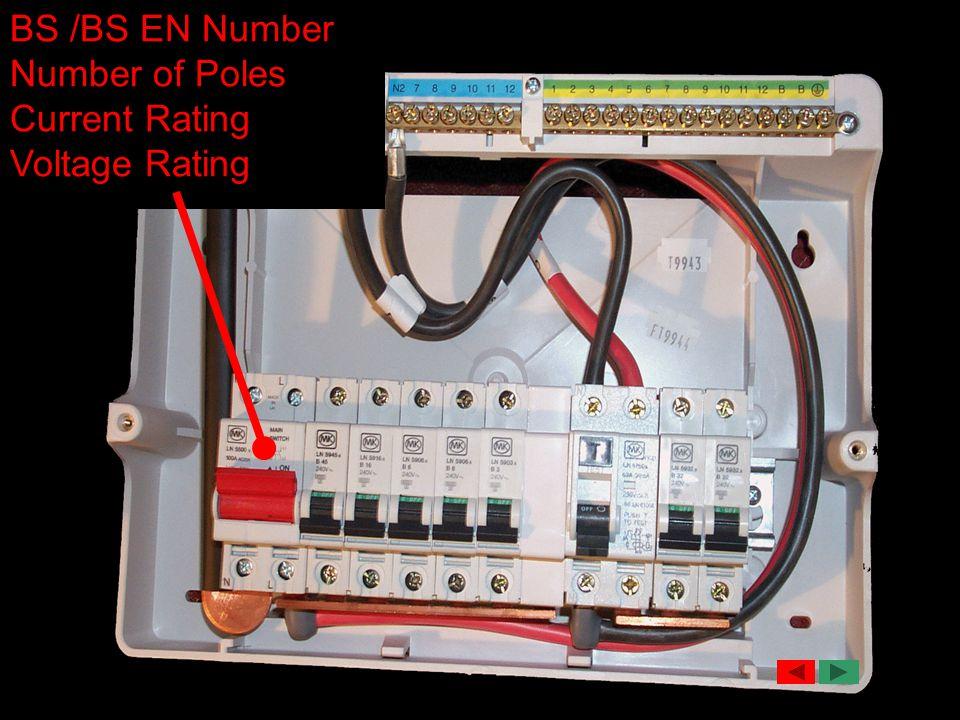 BS /BS EN Number Number of Poles Current Rating Voltage Rating