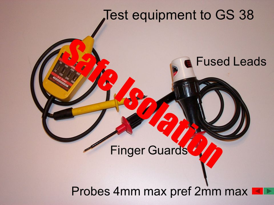 Safe Isolation Test equipment to GS 38 Fused Leads Finger Guards