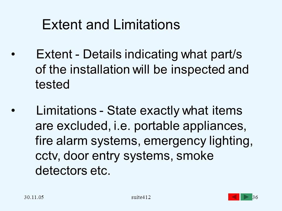 Extent and Limitations