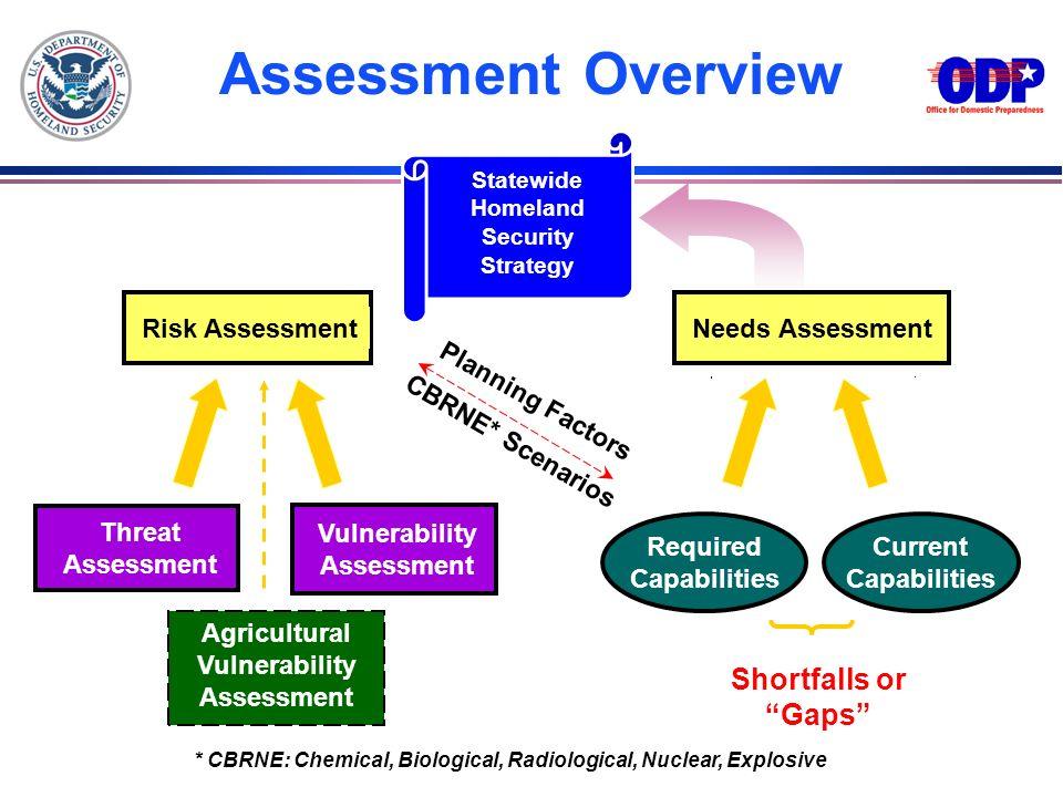 Assessment Overview Shortfalls or Gaps Risk Assessment