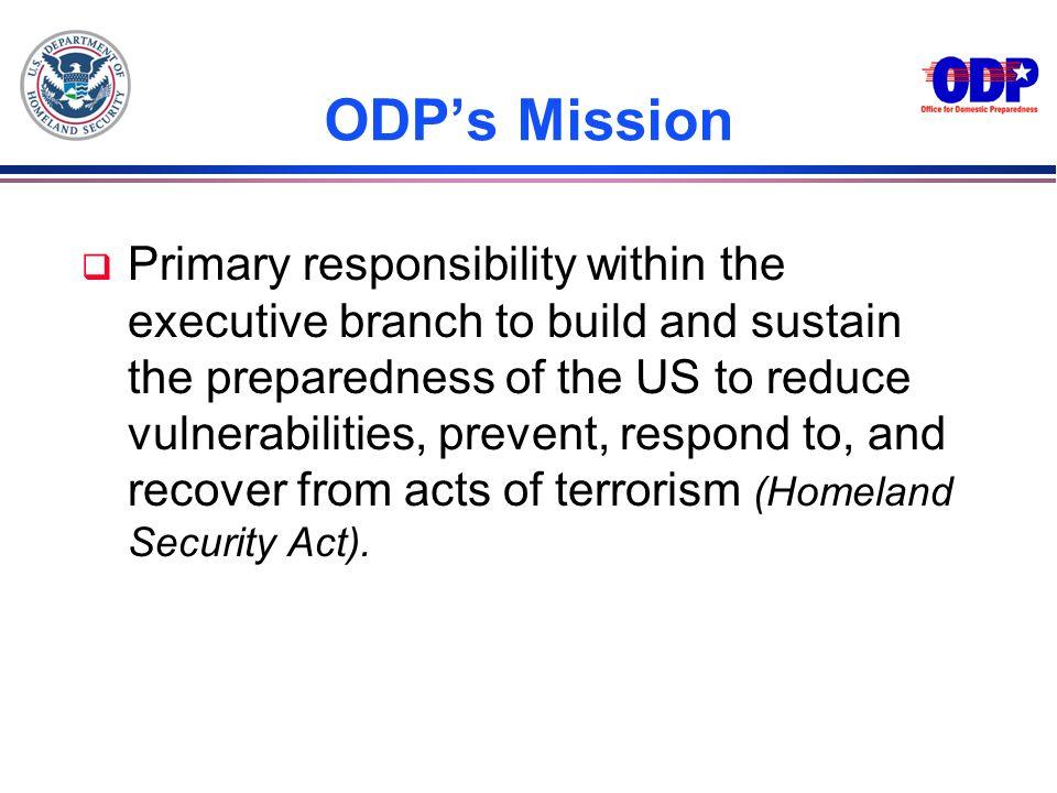 3/22/2017 ODP's Mission.