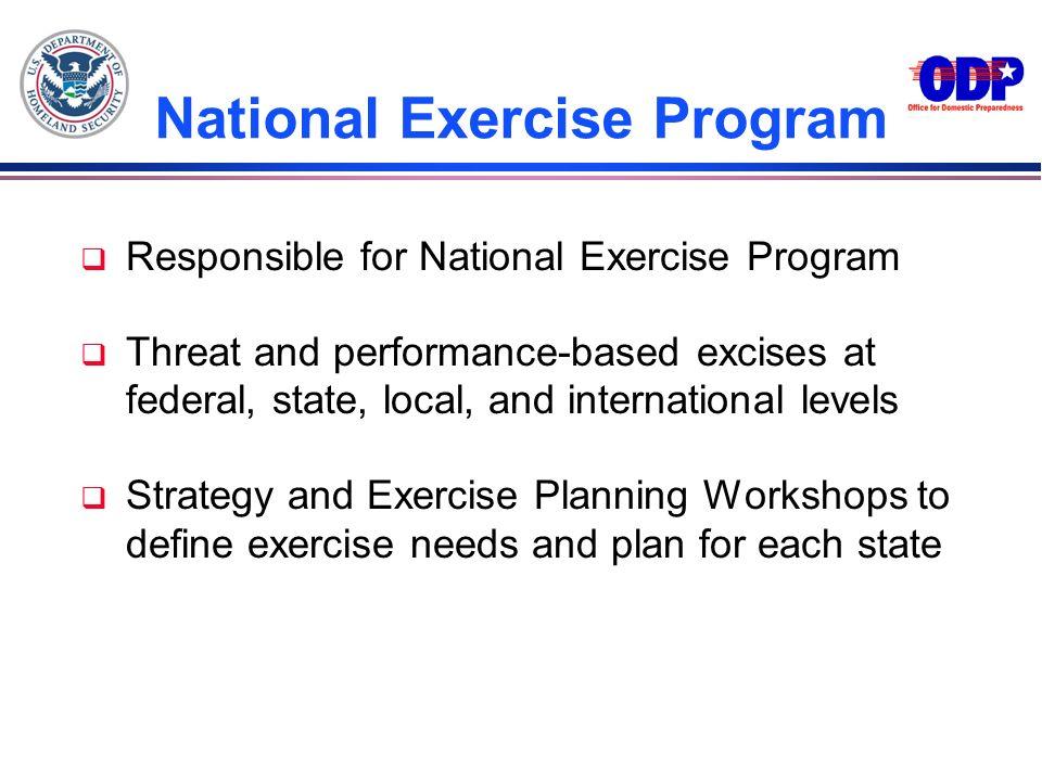 National Exercise Program