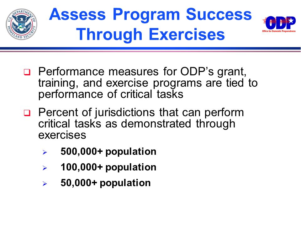 Assess Program Success Through Exercises