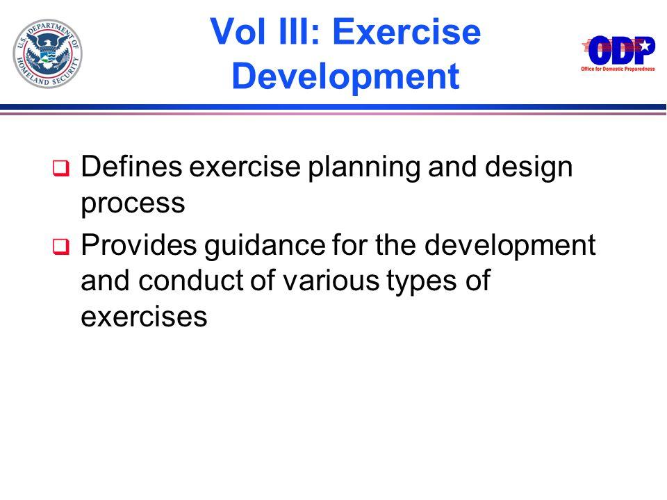 Vol III: Exercise Development
