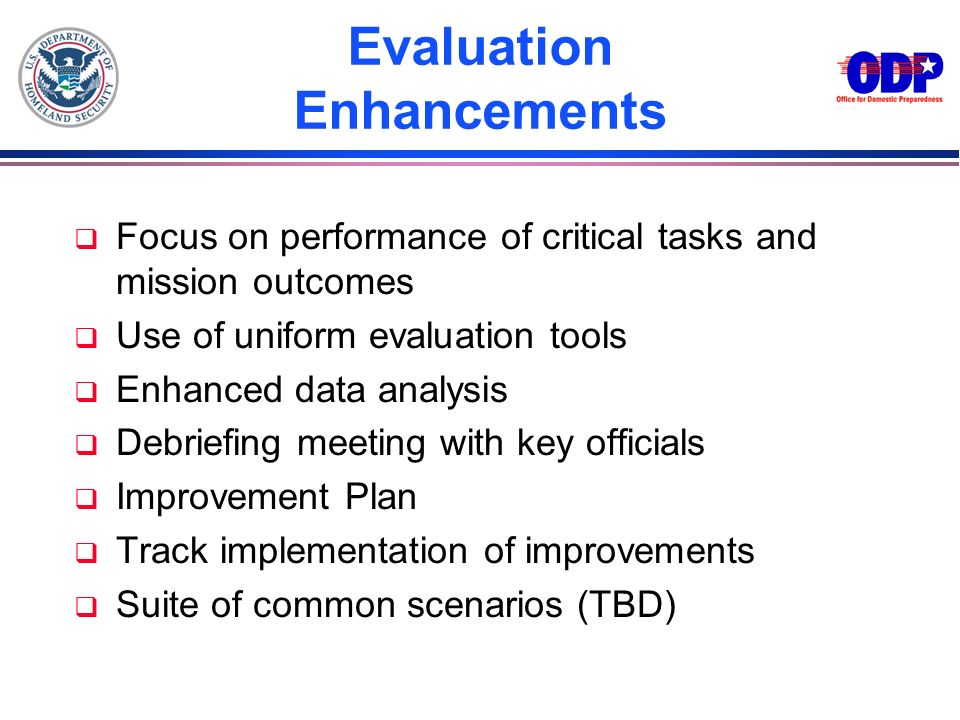 Evaluation Enhancements