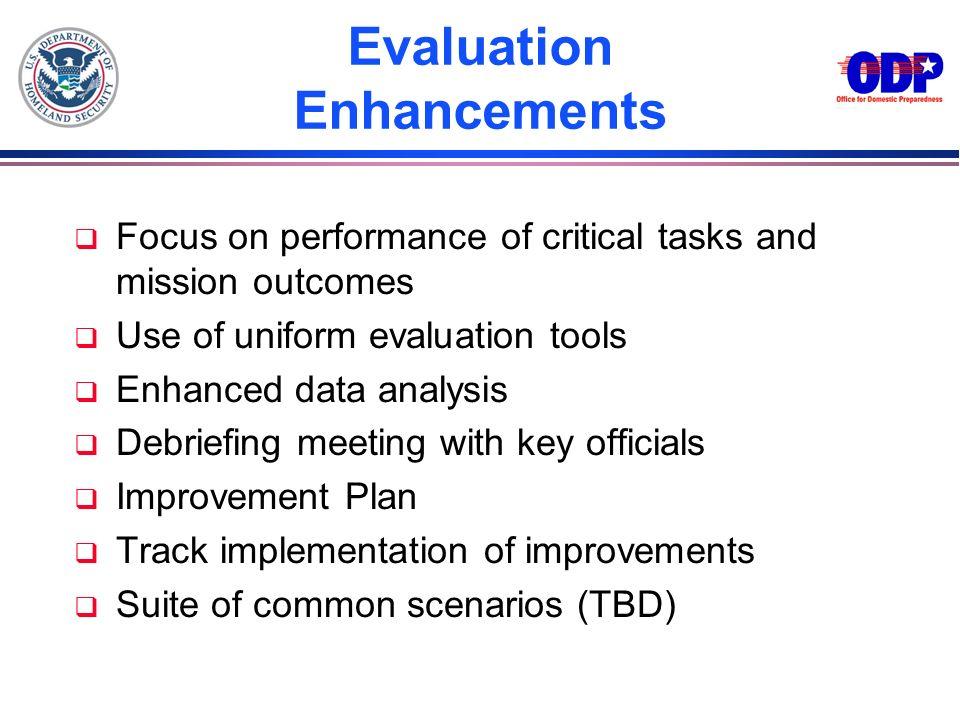 Evaluation Enhancements