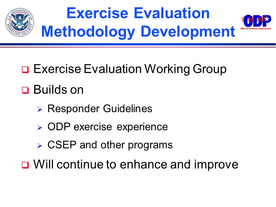 Exercise Evaluation Methodology Development