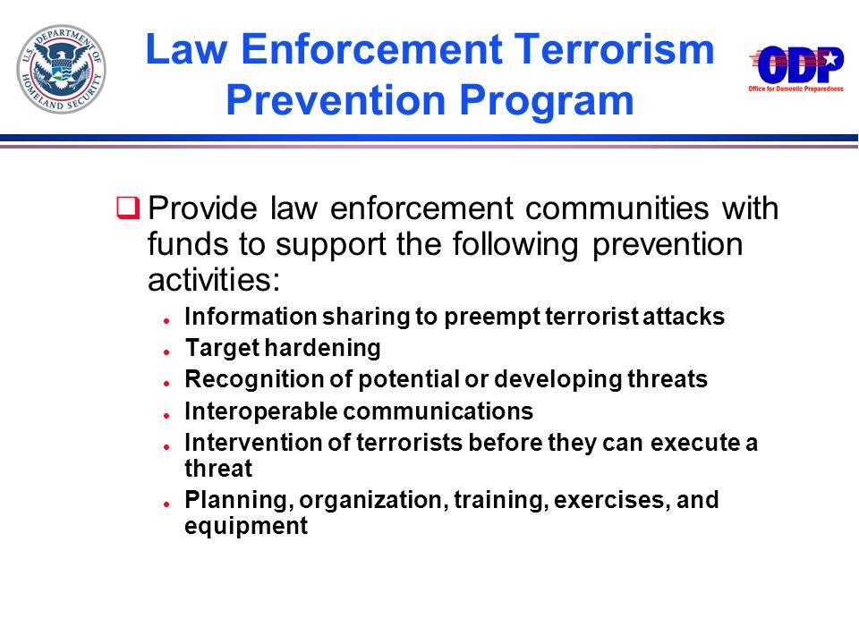 Law Enforcement Terrorism Prevention Program