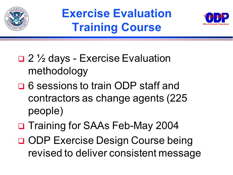 Exercise Evaluation Training Course