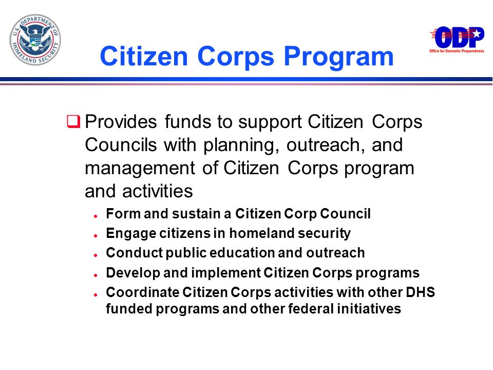 3/22/2017 Citizen Corps Program.