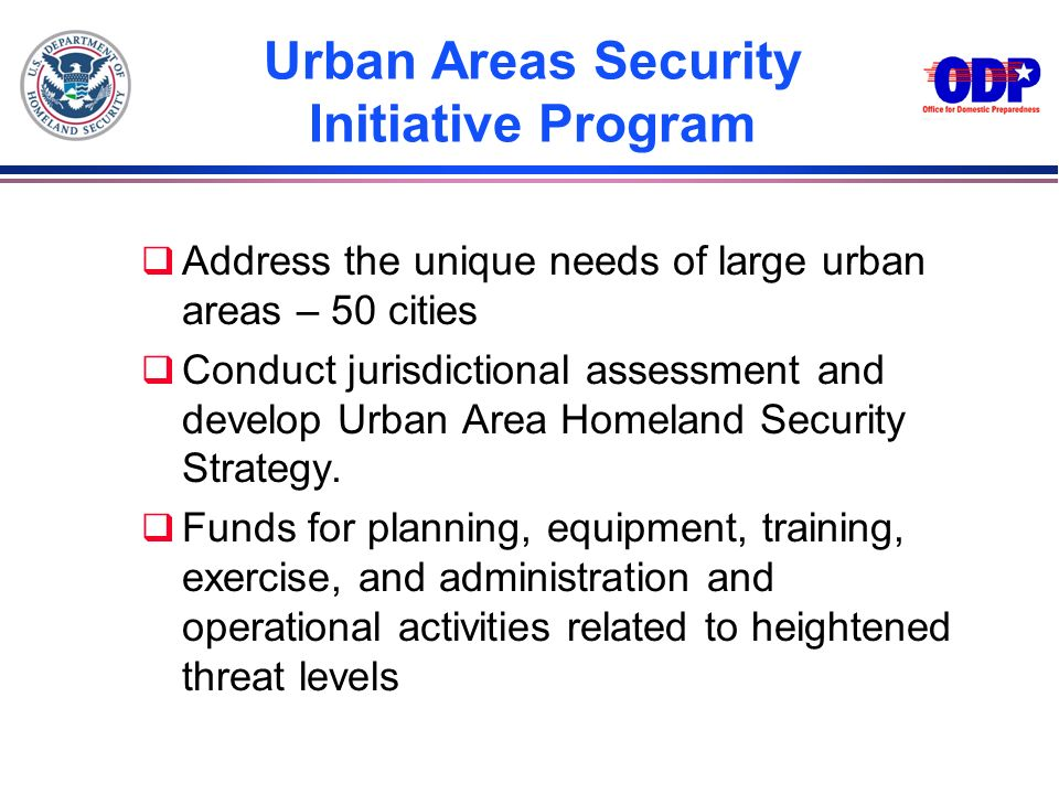 Urban Areas Security Initiative Program