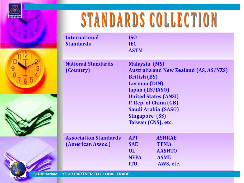 STANDARDS COLLECTION International Standards ISO IEC ASTM