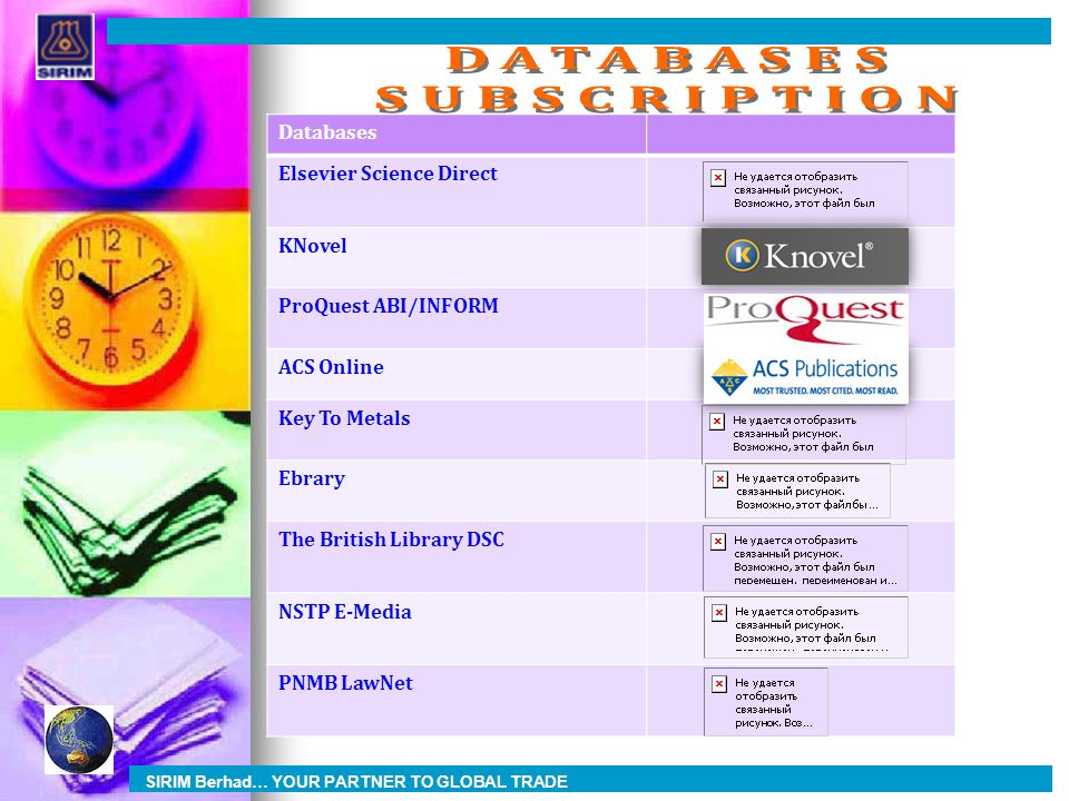 DATABASES SUBSCRIPTION Databases Elsevier Science Direct KNovel