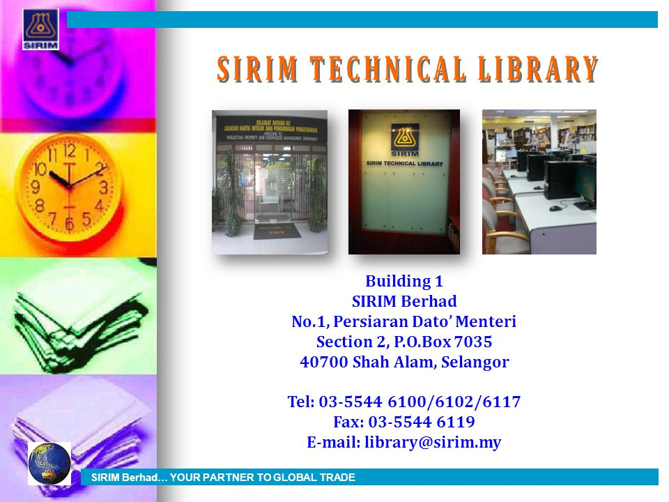 SIRIM TECHNICAL LIBRARY