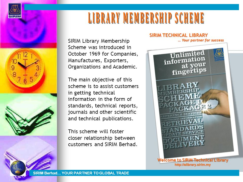 LIBRARY MEMBERSHIP SCHEME