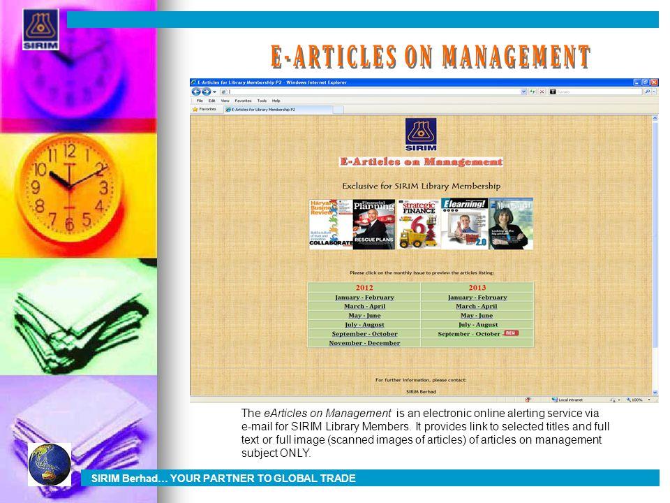 E-ARTICLES ON MANAGEMENT
