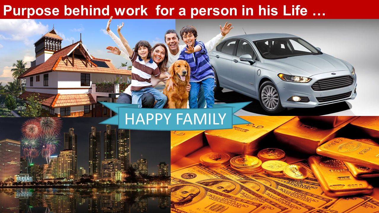 Purpose behind work for a person in his Life …