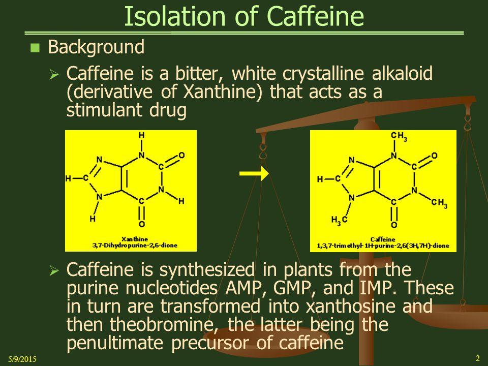  Isolation of Caffeine Background