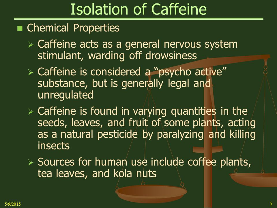 extraction of caffeine from tea pdf