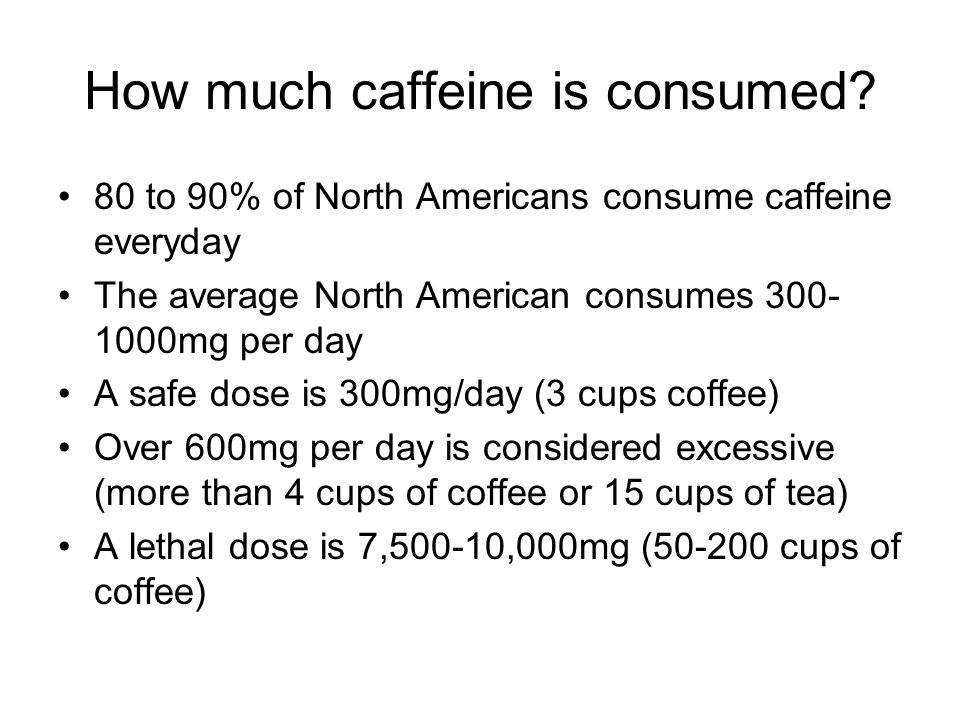 How much caffeine is consumed