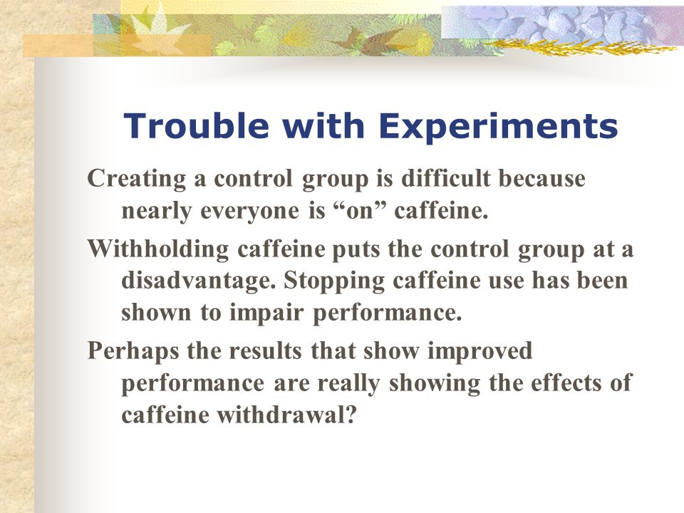 Trouble with Experiments