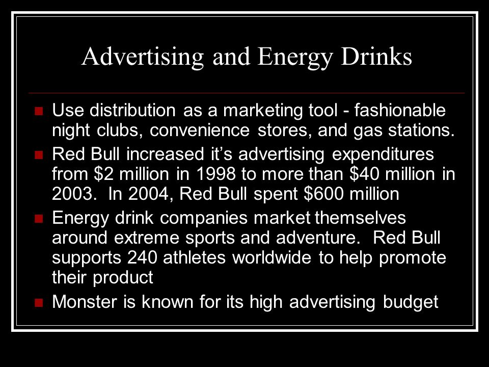 Advertising and Energy Drinks