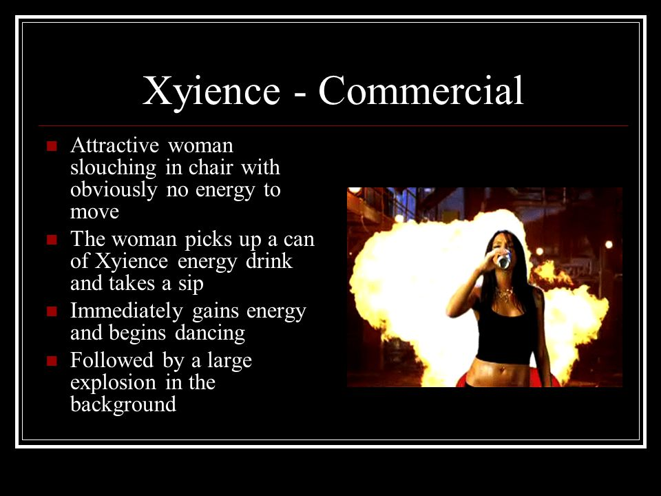 Xyience - Commercial Attractive woman slouching in chair with obviously no energy to move.