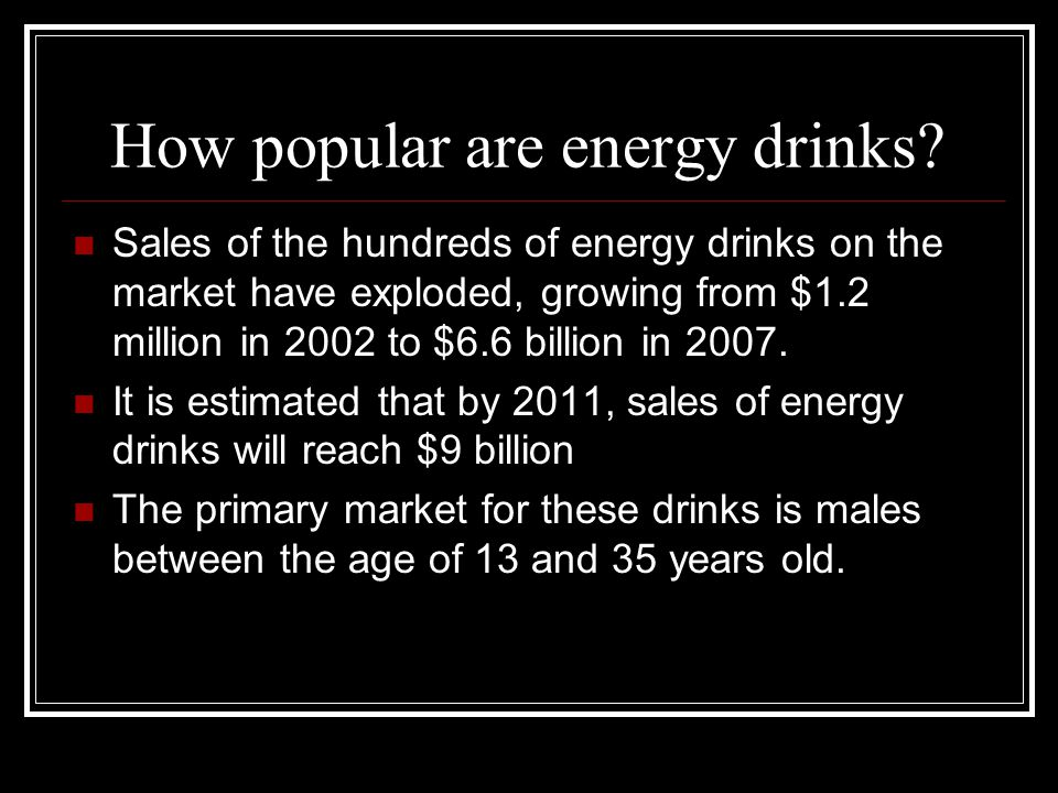 How popular are energy drinks