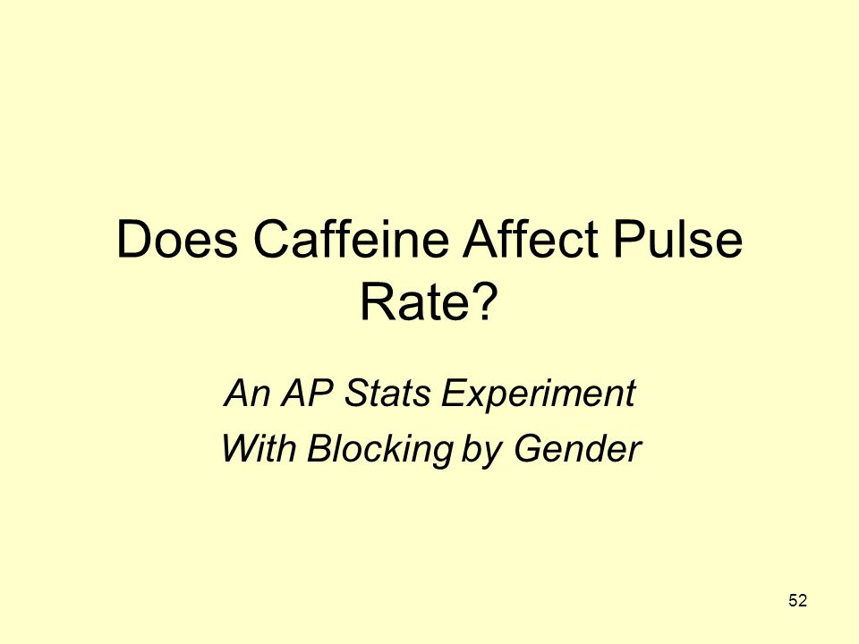 Does Caffeine Affect Pulse Rate