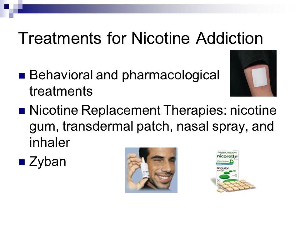 Treatments for Nicotine Addiction
