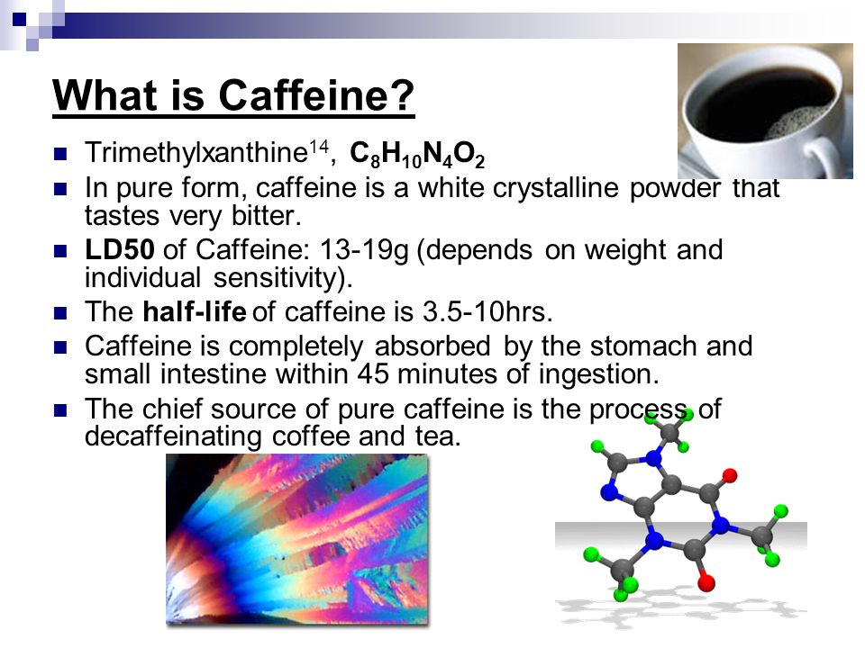 What is Caffeine Trimethylxanthine14, C8H10N4O2