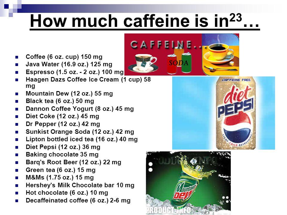 How much caffeine is in23…