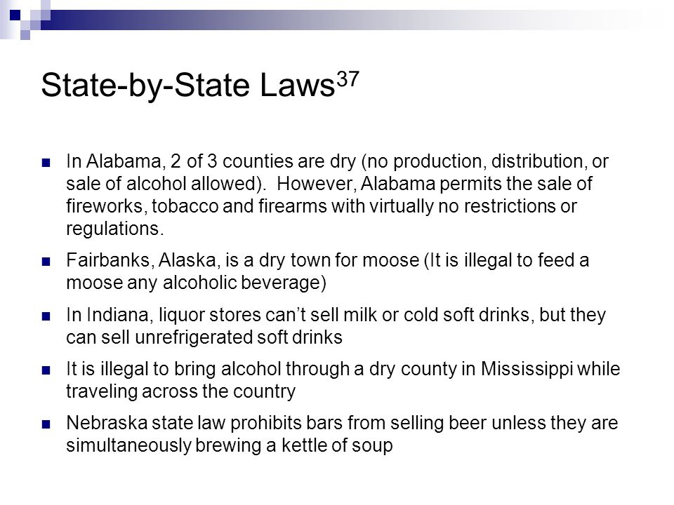 State-by-State Laws37