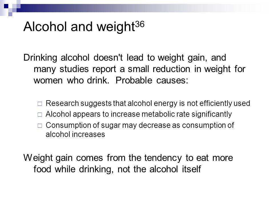 Alcohol and weight36