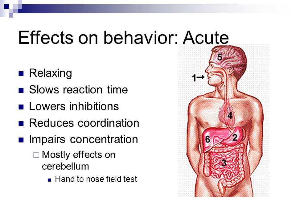 Effects on behavior: Acute