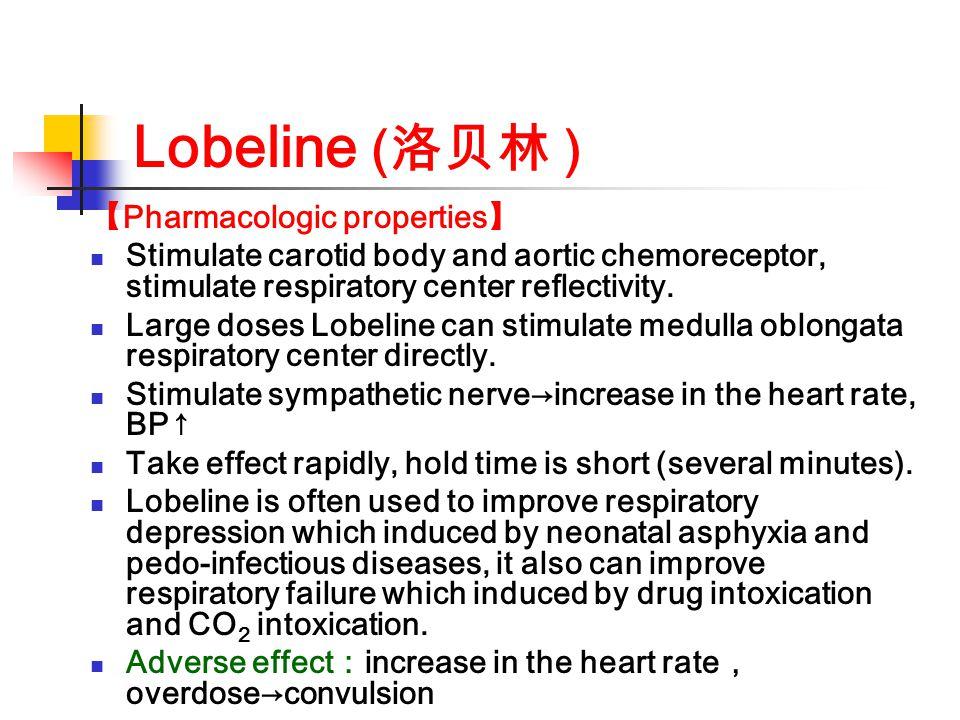 Lobeline (洛贝林 ) 【Pharmacologic properties】