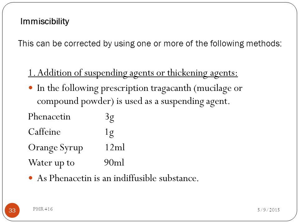 1. Addition of suspending agents or thickening agents: