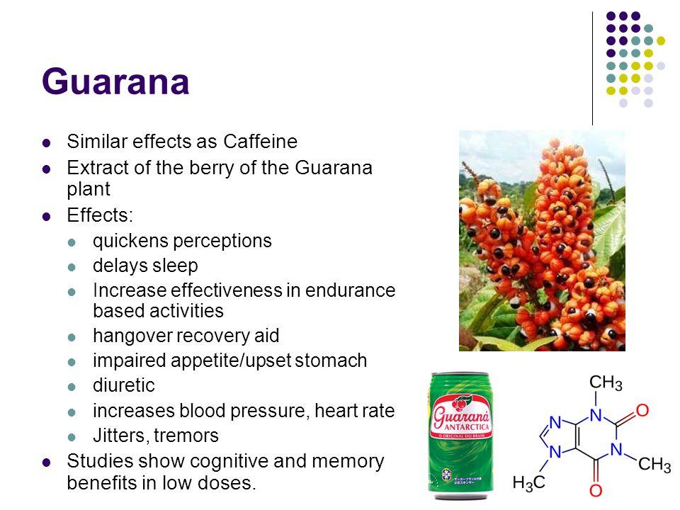 Guarana Similar effects as Caffeine