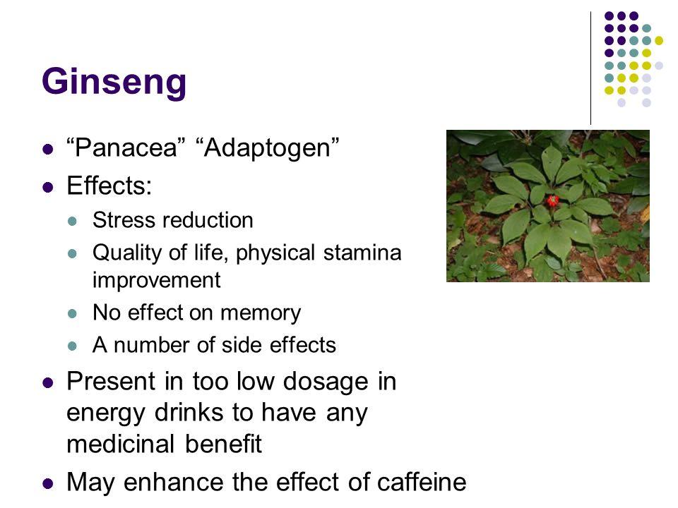 Ginseng Panacea Adaptogen Effects: