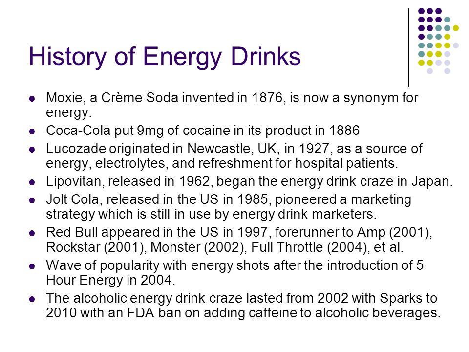 History of Energy Drinks