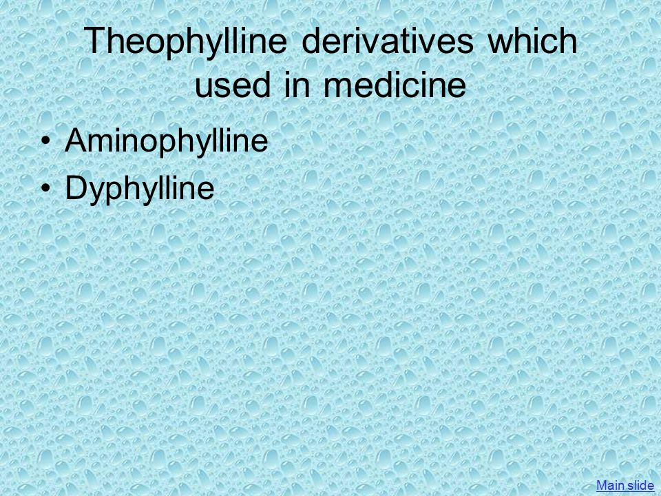 Theophylline derivatives which used in medicine