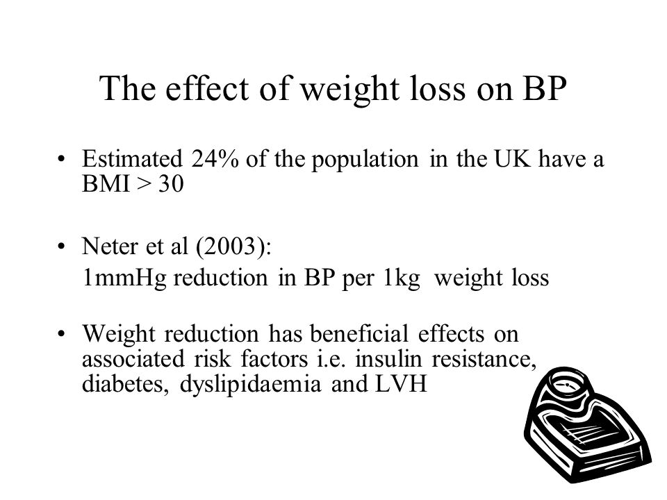 The effect of weight loss on BP