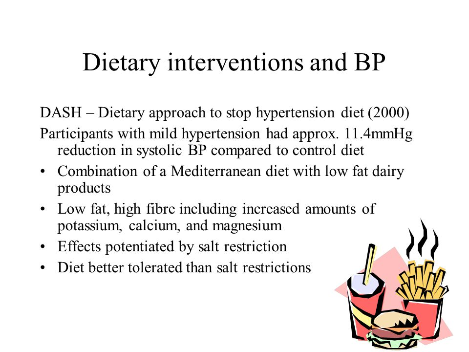 Dietary interventions and BP