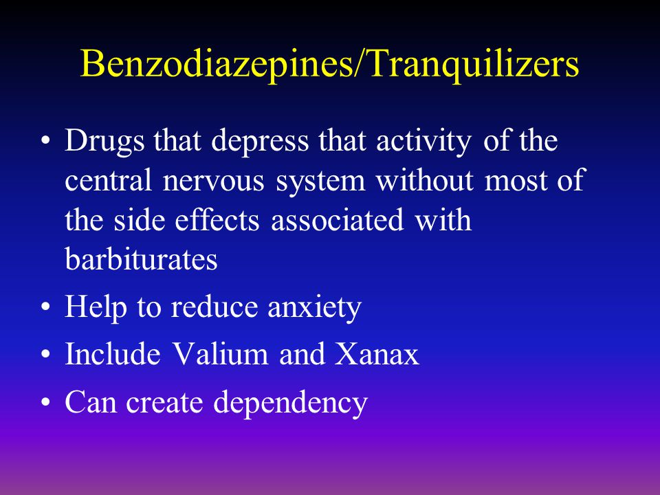 Benzodiazepines/Tranquilizers
