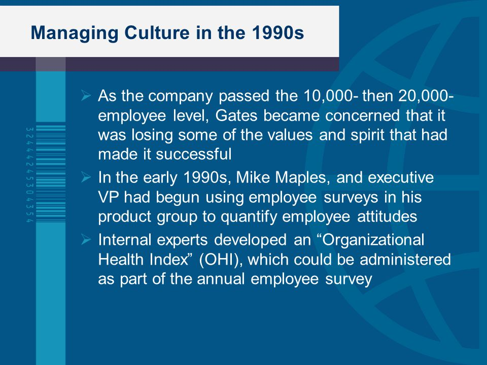 Managing Culture in the 1990s