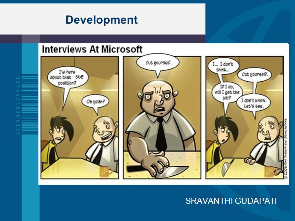 Development SRAVANTHI GUDAPATI