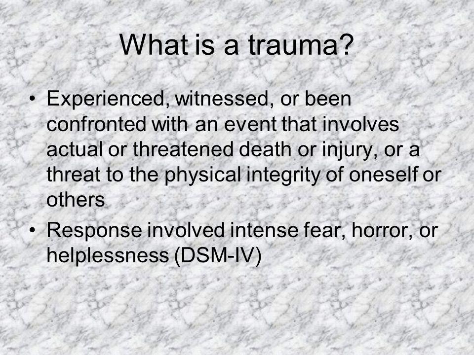 What is a trauma