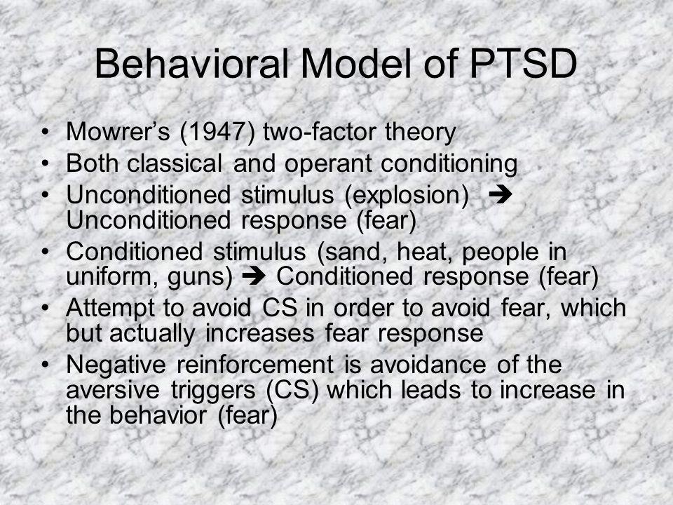 Behavioral Model of PTSD