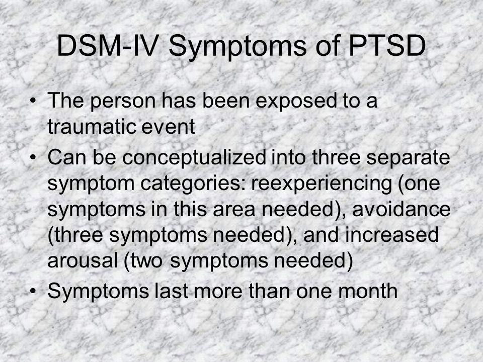 DSM-IV Symptoms of PTSD