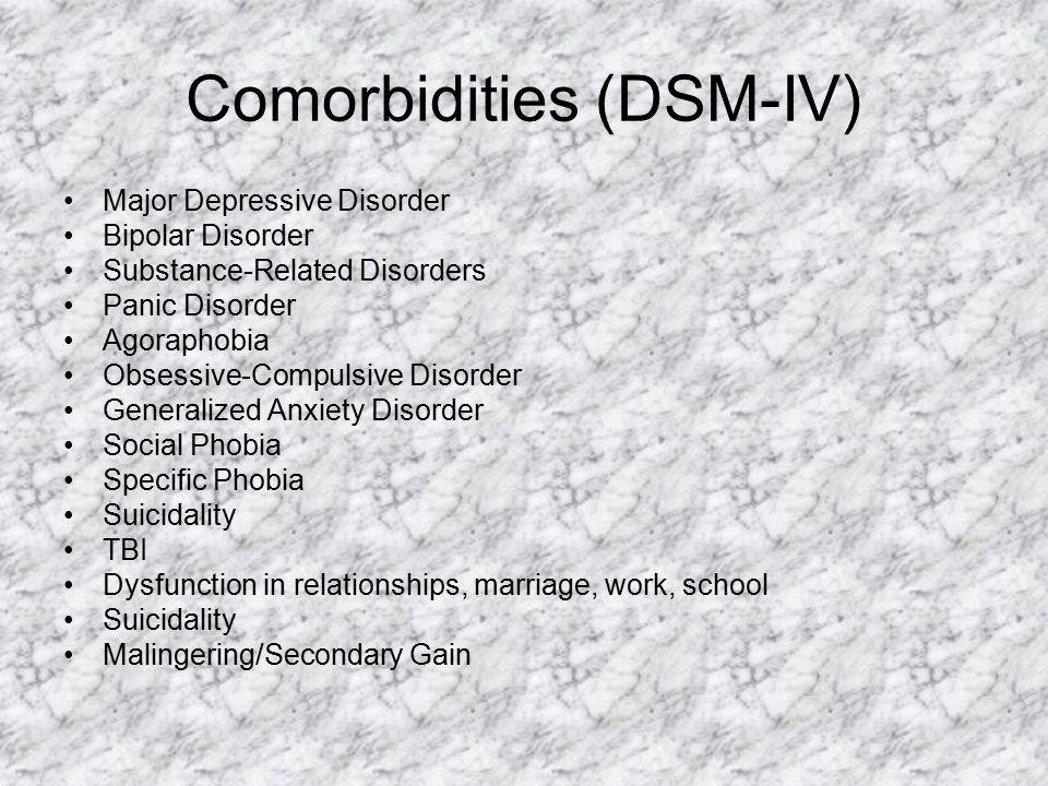 Comorbidities (DSM-IV)